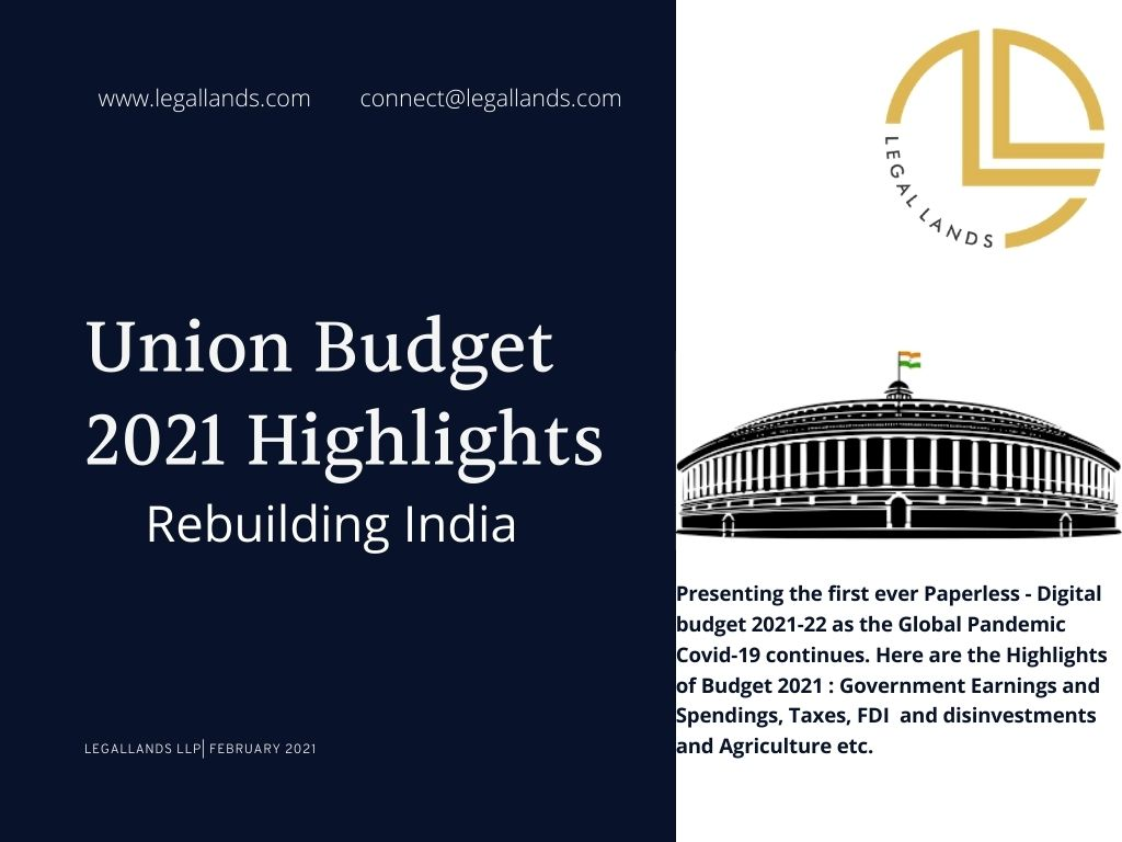 Key Highlights Union Budget 2021-22