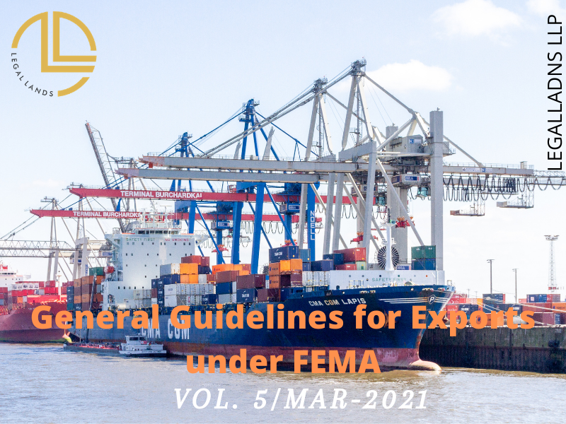 General Guidelines for Exports under FEMA